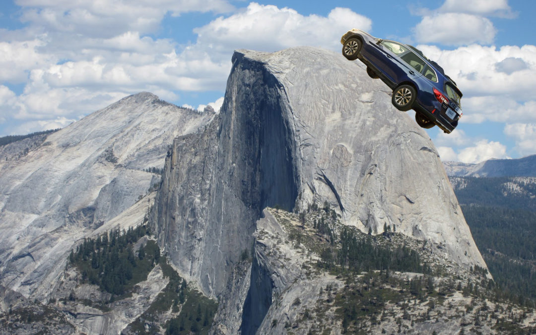Driving a Subaru to the top of Half Dome
